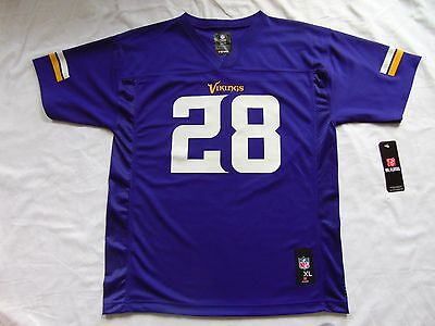 Minnesota Vikings NFL Jersey - Peterson #28 - Youth Extra Large / Mens Small NWT