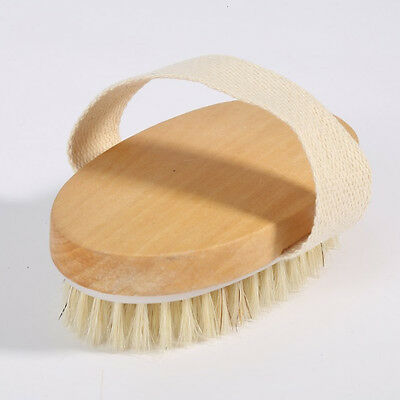 Dry Skin Body Brush with Pig mane Bristles Extra Firm Bristles For Shower