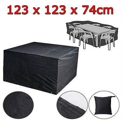 """48"""" Waterproof Square Fire Pit Cover Outdoor Patio Garden Furniture Protection"""