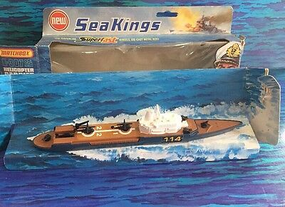 MATCHBOX LESNEY SEA KINGS K-307 Helicopter Carrier 1970s ~