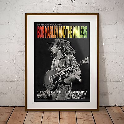 Bob Marley 1973 The London Speakeasy Gigs Poster Print Two Sizes NEW Exclusive