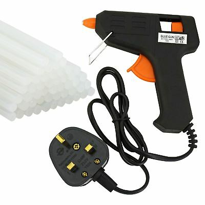 DIY Craft 10W Electric Mini Adhesive Stick Hot Melt Glue Gun with 52 Glue Sticks