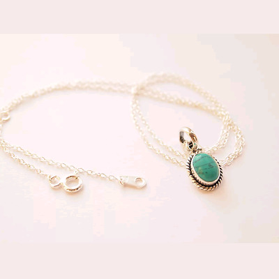 sterling silver 925 necklace pendant charms Turquoise without chain