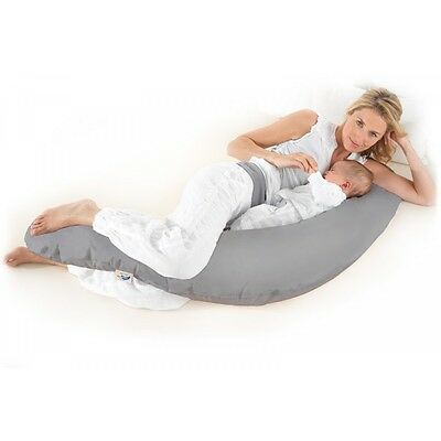 The Original Theraline Maternity and Nursing Pillow (Pillow Plus Cover in Grey)