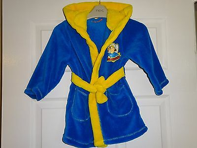 FIREMAN SAM - Lovely Baby Boys Blue & Yellow Dressing Gown Robe 18-24 Months