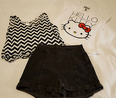 Girls/Ladies Clothing Mixed Lot x 3  Factorie/Hello Kitty #6
