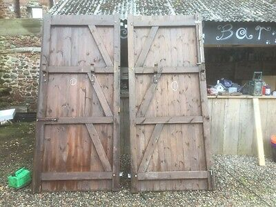 Large Industrial Workshop Doors / Garage / Barn, Pitch Pine