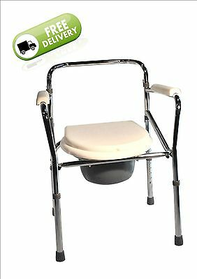 Commode Toilet Chair - Steel