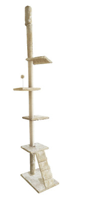Cat Tower Climbing Tree Feline Kitten Scratcher Post Furniture Play Scratching
