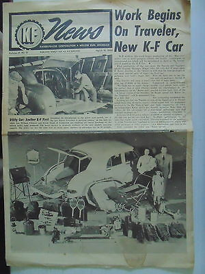 1949 KF News Kaiser Frazer New Traveler Car Coverage Pics RARE
