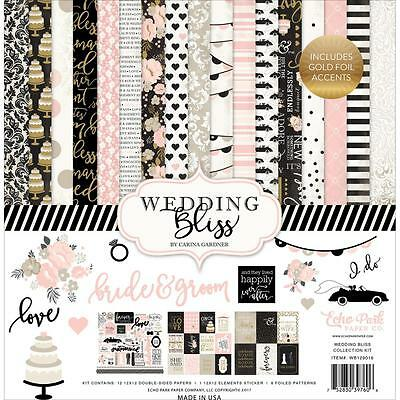 Echo Park Paper Co Wedding Bliss Specialty Scrapbook Kit Papers & Stickers