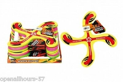 Kids Adult Sports 4 Point  Rubber Flying Boomerang