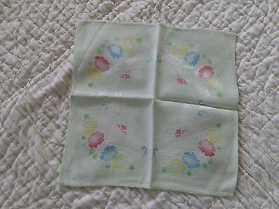 Set Of 6 Great Vintage Spring Napkins