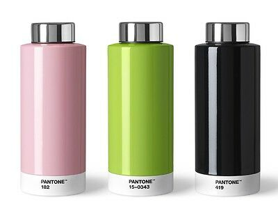 Pantone Universe Drinking Bottle in 8 colours. Combination of Steel & Style.
