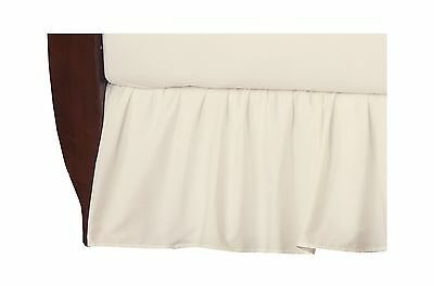 TL Care 100% Cotton Percale Crib Bed Skirt Ecru - NEW FREE SHIPPING