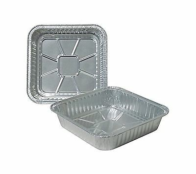 """Durable Packaging Disposable Aluminum Square Cake Pan 8"""" x 8"""" x 1-3/4"""" (Pack ..."""