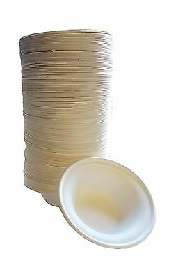 100% compostable and biodegradable DISPOSABLE 12oz BOWLS - (125 COUNT) made f...