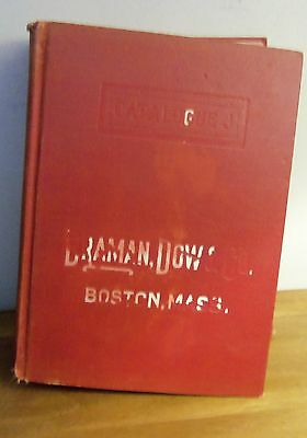 Rare 1925 ILLUSTRATED CATALOGUE OF BRAMAN, DOW & CO. J-9 BOSTON MA plumbing pipe