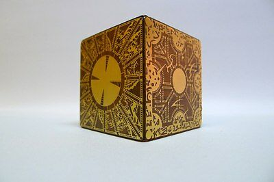 Hellraiser Le Marchand redwood encrusted with brass puzzle box with secret NEW