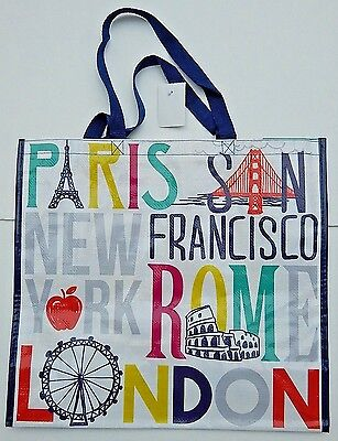 REUSABLE SHOPPING TRAVEL TOTE BAG PLACES ECO FRIENDLY Homegoods NEW