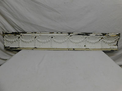 "42"" Antique Tin Ceiling Cornice - C. 1890 Ribbon Design Architectural Salvage"