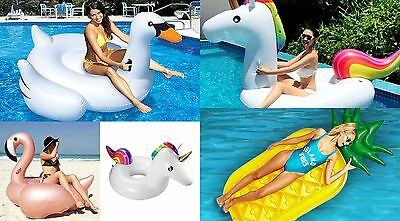 Inflatable Shaped Floating Mat Swimming Ring Lounge Pool Beach Air Bed Float
