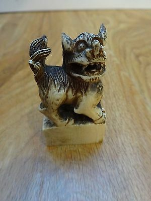 Antique Carved FOO DOG Wax Seal CHINESE Collectible Small IMPERIAL Stamp