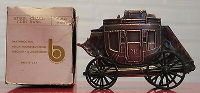 * Vintage Metal Banthrico figural bank - Stagecoach with box