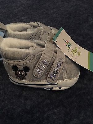 0-3 Months Disney Mickey Mouse Crib Shoes - brand New With Tags