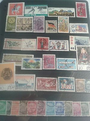 Germany    STOCK SHEET OF MODERN STAMPS  Off paper ( 1 )   USED
