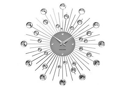 Karlsson Wall Clock Crystal Sunburst Large 50cm Dia