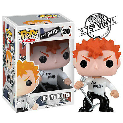 Sex Pistols Collectible: 2012 Funko Pop! Rocks Johnny Rotten Vinyl Figure C6