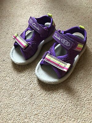 clarks shoes, sandals, baby girl, boy size 4