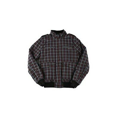 Fenchurch Men's Namic Check Biker Style Cotton Bomber Jacket