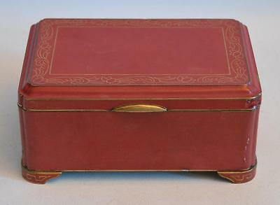 Vintage Japanese Yamanaka & Co. Bronze and Lacquer Box with Wood Insert