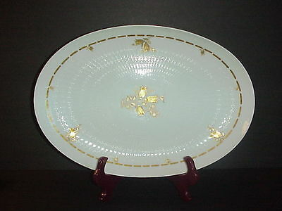 "Rosenthal Carillon Platter 15"" Continental Germany Pattern 3508 Gold Flowers"