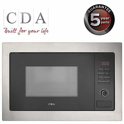 CDA VM130SS Integrated Built in Microwave Oven in Black & Stainless Steel