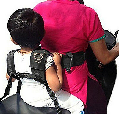 Childrens Safety Harness Motorcycle Seat Belt Back Support Kids