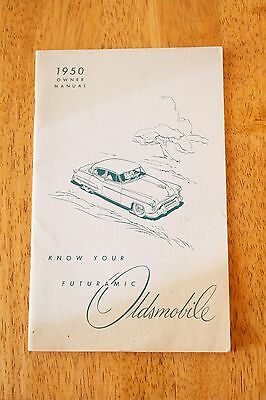 "Vintage 1950 OLDSMOBILE Owner Manual ""Know Your Futuramic"" Lithograph Printing"