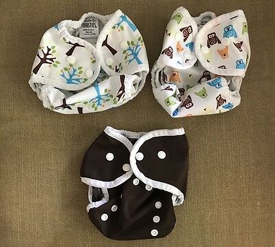 Thirsties Size 1 Duo Wrap Cloth Diaper Covers with Snaps
