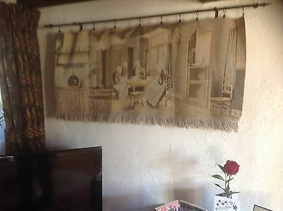 Large Antique French or Belgian  - Wall Hanging - Ladies Sewing