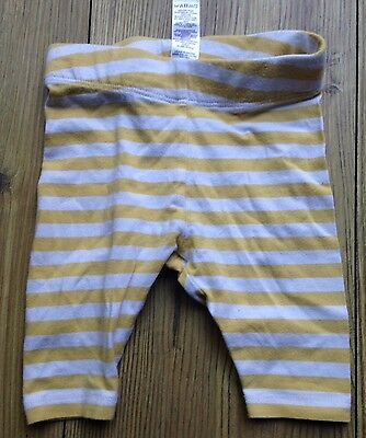 Boden Baby Boy Shorts Cropped Leggings 3-6 Months Summer Yellow White Striped