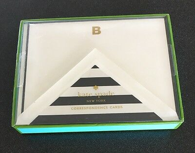 Kate Spade New York - B - Note Card/ Correspondence Cards + Envelopes Set of 10