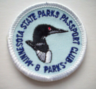 MN Minnesota State Parks passport embroidered patch 8 parks LOON