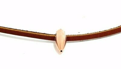 Sniper Hog Tooth Necklace Brown Leather With Break Away Barrel Clasp 20 Inch