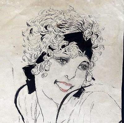 ▇7 Pin Up Art Deco Periode-6 Etching &1 Drawing 15/28Cm-6/11Iches-Foldings