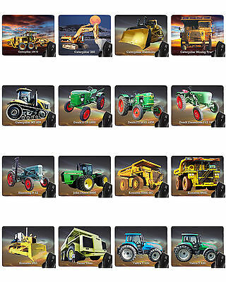 Mouse pad with motif: Tractors and Construction machinery Mousepad Hand rest BIG