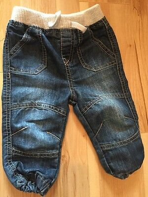 Baby Boy Jeans From Tesco With Elasticated Waist Age 6-9 Months