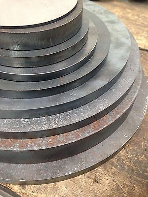 MILD STEEL 8mm thick plate round cnc custom cutting available
