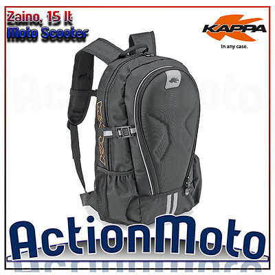 Backpack motorcycle scooter Kappa RA313 inserted thermoformed shoulder straps
